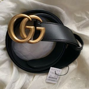 –Ńew Gucci Belt Àùthèntic Double G Marmot GG